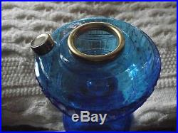ALADDIN Cobalt Blue Short Lincoln Drape OIL LAMP, Aladdin Kerosene Lamp, NICE