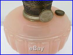 ALADDIN Corinthian Rose/Opaque/Pink Moonstone Oil Lamp With Model B Burner