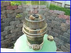 ALADDIN GREEN JADEITE CORINTHIAN KEROSENE/OIL LAMP WithMODEL B BURNERCOMPLETE