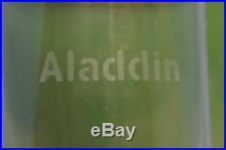 ALADDIN GREEN OIL LAMP ALPHA ART GLASS VASE #1230A Model #12 Burner Chimney 1934