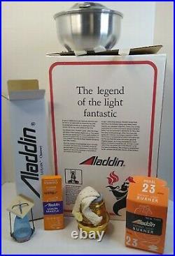 ALADDIN Incandescent Mantle Oil Lamp Model 23 New open box WithO Manuel. Vintage