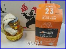 ALADDIN Incandescent Mantle Oil Lamp Model 23 New open box complete vintage