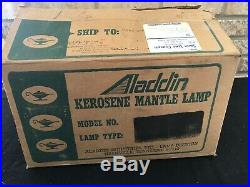 ALADDIN KEROSENE OIL LAMP Model 23 Short LINCOLN DRAPE COBALT BLUE NOS