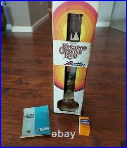 ALADDIN Kerosene Brass Mantle Oil Lamp Kerosene Model 23 With Box Wicks