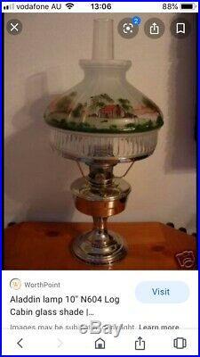 ALADDIN LAMP 10 N604 LOG CABIN GLASS SHADE (New In box)