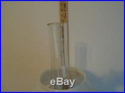 ALADDIN LAMP CORINTHIAN AMBER GLASS OIL KEROSENE With CHIMNEY & SHADE 23 1/2 TAL