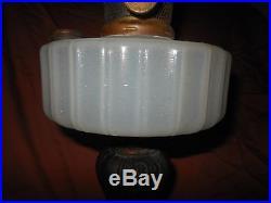 ALADDIN LAMP MOONSTONE BRASS B NU-TYPE NU-BURNER Spreader BRONZE/BRASS BASE