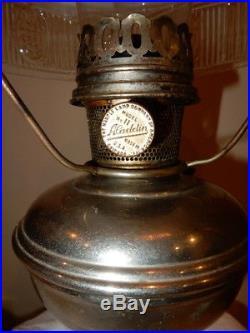 ALADDIN MODEL 11 KEROSENE OIL LAMP with 501 PARLOR STUDENT LAMP SHADE