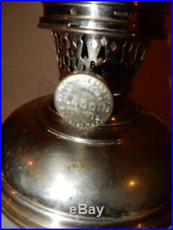 ALADDIN MODEL #5 KEROSENE OIL LAMP COMPLETE w Burner