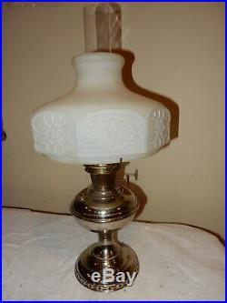 ALADDIN MODEL #6 KEROSENE OIL HANGING LAMP with 301 CHIPPENDALE SHADE