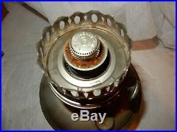 ALADDIN MODEL #9 KEROSENE OIL HANGING LAMP with 516 OPAL GLASS SHADE