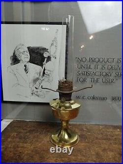 ALADDIN Model 23 BRASS Kerosene Oil Lamp Table Lamp with Chimney