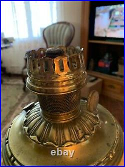 ALADDIN Model 7 BRASS Kerosene Hanging Oil Lamp-Sconce w 7 Flame Spreader