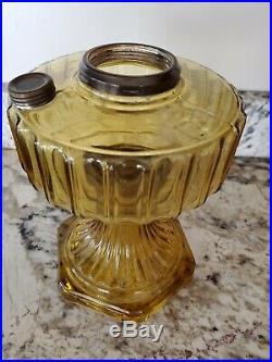 ALADDIN Model B Corinthian AMBER GLASS Oil Lamp Font MADE IN 1935-36
