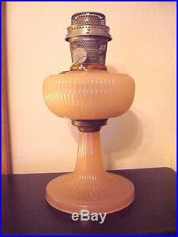 ALADDIN OIL/KEROSENE LAMP ROSE MOONSTONE B-87 VERTIQUE