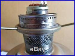 ALADDIN Polished Aluminum Kerosene Lamp with Model 23 Burner Milkglass Shade