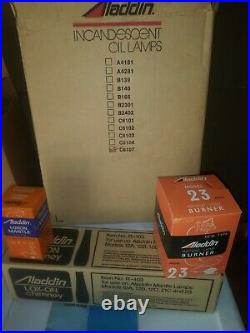 ALADDIN RUBY LINCOLN DRAPE OIL LAMP Model 23 Burner NEW OLD STOCK RARE