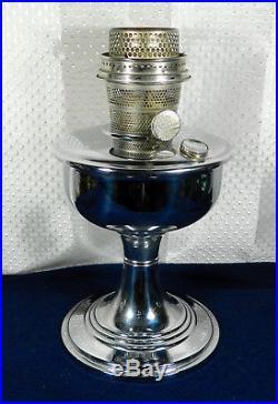 ALADDIN TREASURE B-136 PAT RARE CHROMIUM PLATED MODEL B, TABLE LAMP WithSHADE