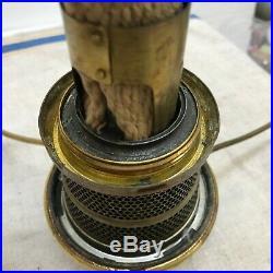 ALADDIN Type B KEROSENE OIL LAMP ROSE PINK MOONSTONE CORINTHIAN