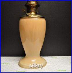ALADDIN VENETIAN MODEL 12 ART CRAFT PEACH STRAW 1245 OIL LAMP #12 Burner 1930-35