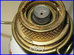 ALADDIN VICTORIA B25 POPPY CERAMIC CHINA OIL LAMP MODEL B withChimney Tripod 14