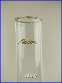 ANTIQUE ALADDIN ALACITE WHITE LINCOLN DRAPE LAMP GLASS MODEL B Tested works