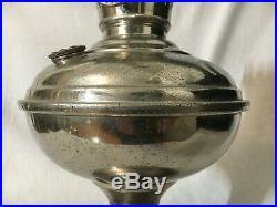 ANTIQUE ALADDIN KEROSENE oil TABLE LAMP MODEL 3 NO. 4 TRANSITION flame spreader