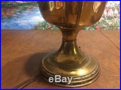 ANTIQUE ALADDIN old BRASS KEROSENE oil TABLE LAMP MODEL NO. 8 NUMBER 8 BURNER