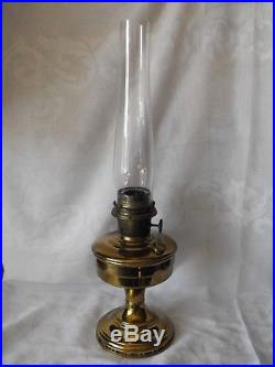 ANTIQUE ALADDIN old KEROSENE oil LAMP MODEL no. 12 Brass with Chimney rare BURNER