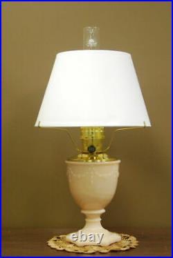 Aladdin 100009721-N110 Beige Alacite Moonstone Florentine Lamp WithShade