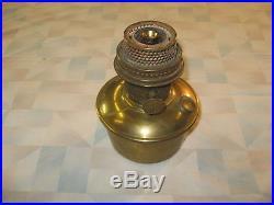 Aladdin #12 Tan Alpha Art Glass Vase Lamp 1231A