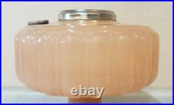 Aladdin 1934 Cathedral Model B-112 Pastel Flesh Moonstone Kerosene/Oil Lamp Font