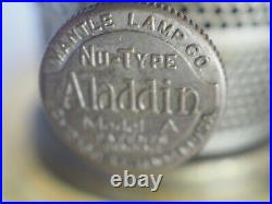 Aladdin 1935 Amber crystal Corinthian Oil Lamp Model B Burner Lox-on chimney 101