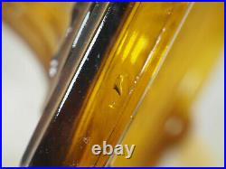 Aladdin 1935 Clear Font Amber foot Corinthian Oil Lamp #23 Burner Chimney B-106