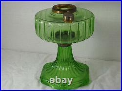 Aladdin 1935 Green Beta glass Corinthian Oil Lamp Model B Burner Chimney B-102