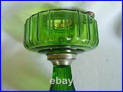 Aladdin 1936 Model B-102 Green Beta Kerosene Corinthian Lamp, Oil Lamp