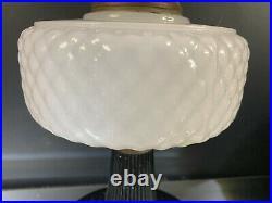 Aladdin 1937 Model B-90 White Moonstone Diamond Quilt Kerosene Lamp-BUY IT NOW