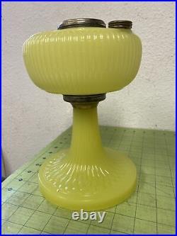 Aladdin 1938 Model B-88 Yellow Moonstone Vertique Kerosene Lamp, Oil Lamp