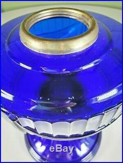 Aladdin 1976 Reissue Cobalt Blue Short Lincoln Drape glass lamp front only