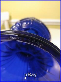 Aladdin 1989 Short Lincoln Drape Cobalt Blue Glass Lamp gorgeous color