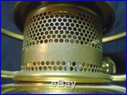 Aladdin #23 Oil Lamp Dark Green Melon Shade Orig. Lox Chimney Hong Kong