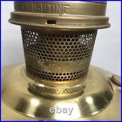 Aladdin 23 brass oil lamp Chimney Kerosene Brass Vintage VTG Lox-On Mid Century