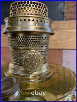 Aladdin Amber Corinthian Kerosene Oul Lamp With B Burner 1935-36