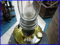 Aladdin Amber Glass Oil Kerosene Lamp Nu-Type Model B Corinthian Style, Complete