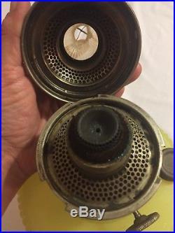Aladdin Antique Kerosene Oil Lamp Model B-88 Yellow Moonstone Vertique