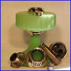Aladdin Apple Green Moonstone Corinthian B-111 Kerosene Lamp (1935-36)