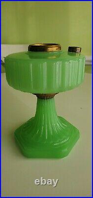 Aladdin B-111 Apple Green Moonstone Corinthian Glass Lamp Font only