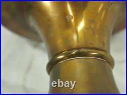 Aladdin B-139 brass plate Kerosene Oil Lamp Model B Burner Lox-on chimney