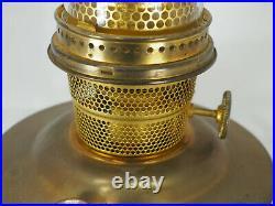Aladdin #B-139 brass plate Kerosene Oil Lamp Model B Burner plus Lox-on chimney