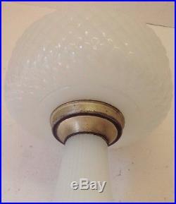 Aladdin B 85 White Moonstone Quilt Mantle Oil Lamp
